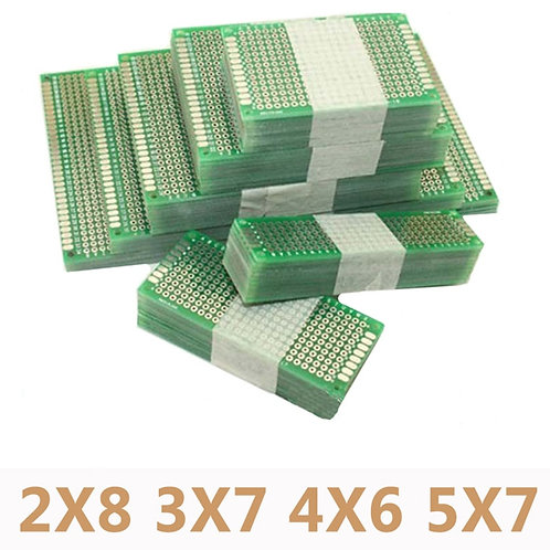 20pcs Lot of 5x7 4x6 3x7 2x8cm Double Side Prototype Printed Circuit PCB Board