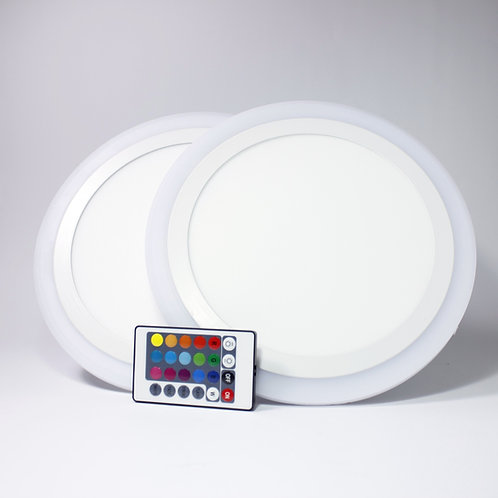 Set of 2 RBG LED Downlight with Remote
