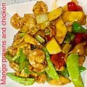 Mango prawns & Chicken