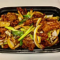 Beef with Green Onion & Ginger