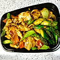 Chicken with Asparagus in Black Bean Sauce