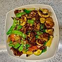 Beef with Snow Peas & Mushroom