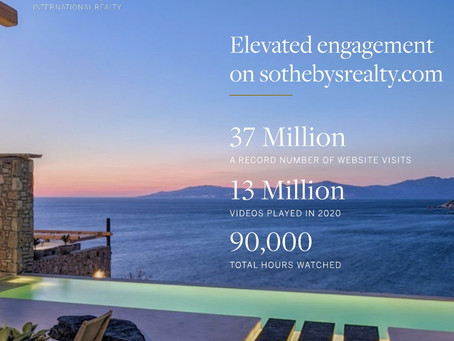 Sotheby's International Realty Garnered 37 Million Website Visits In 2020