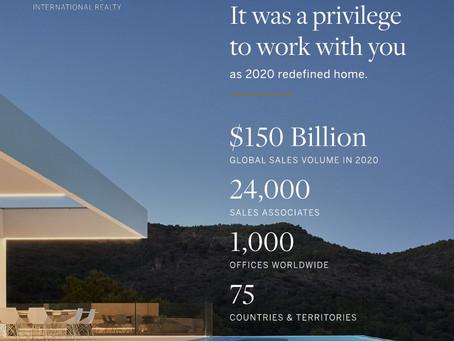 Sotheby's International Realty Produced $150 Billion Global Sales Volume In 2020