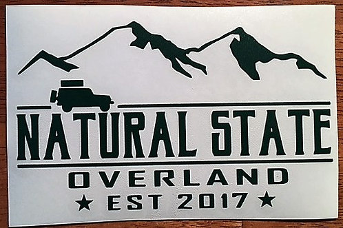 "Matte Black cut vinyl decal approx. 5"" x 3"""