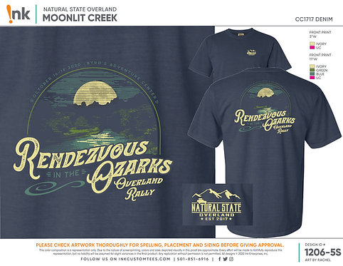 Rendezvous in the Ozarks 2020 T-shirt