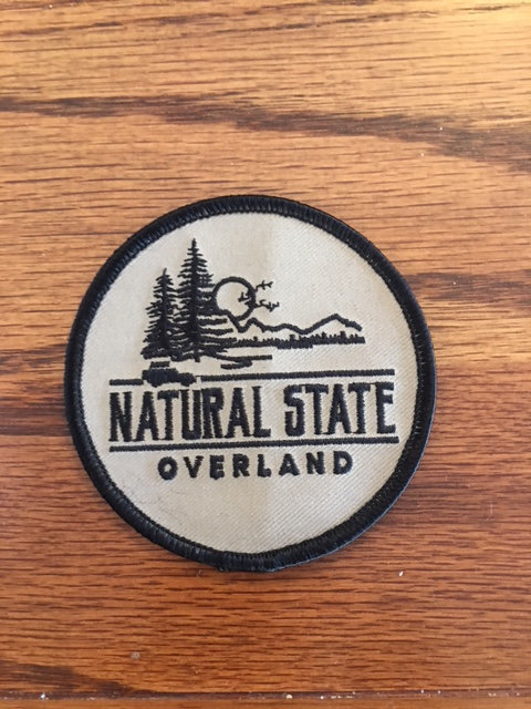 Natural State Overland patch - round