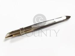 CS BEAUTY S8025 Gold Tipped Tweezers