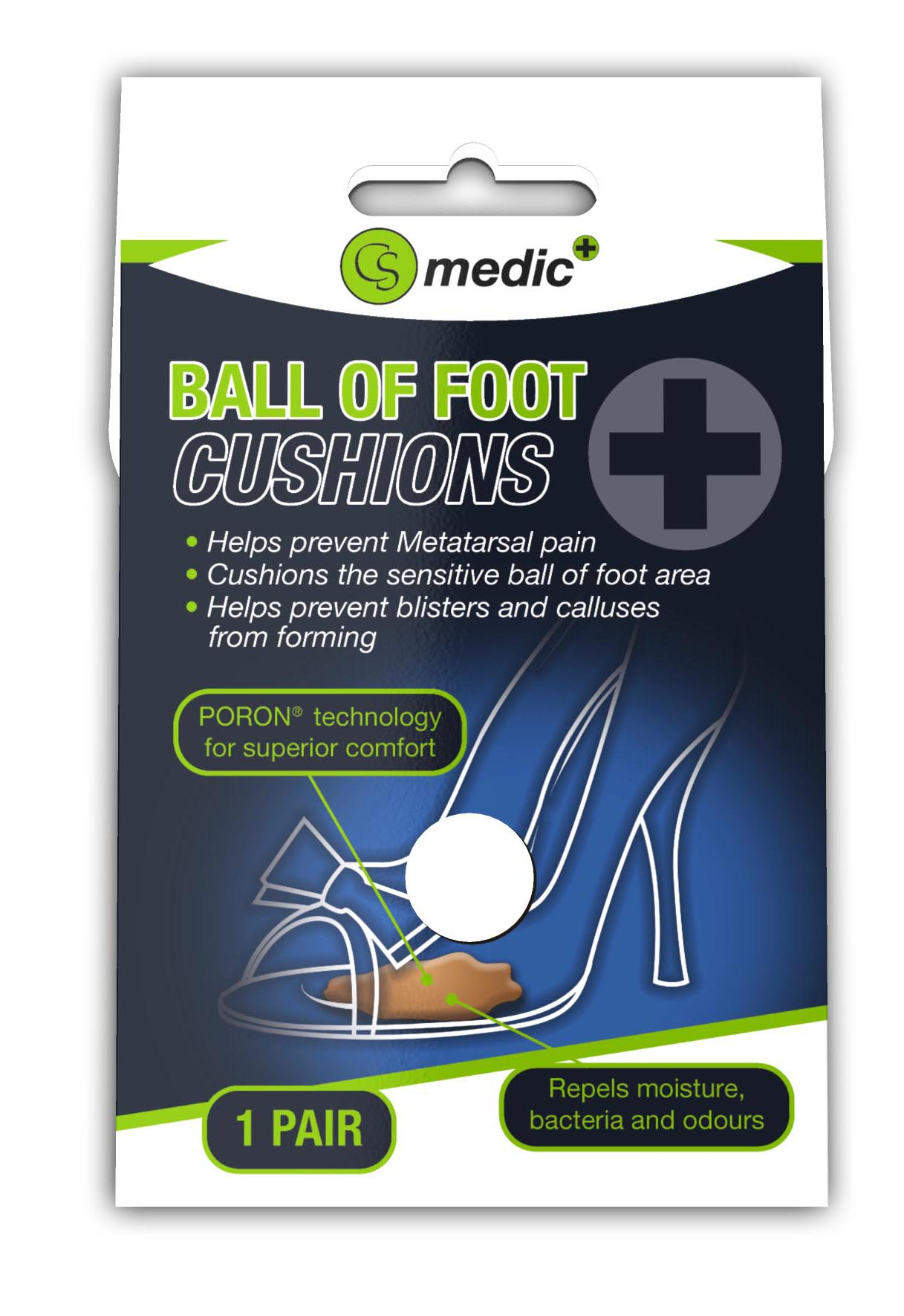 S733 - CS MEDIC BALL OF FOOT CUSHIONS