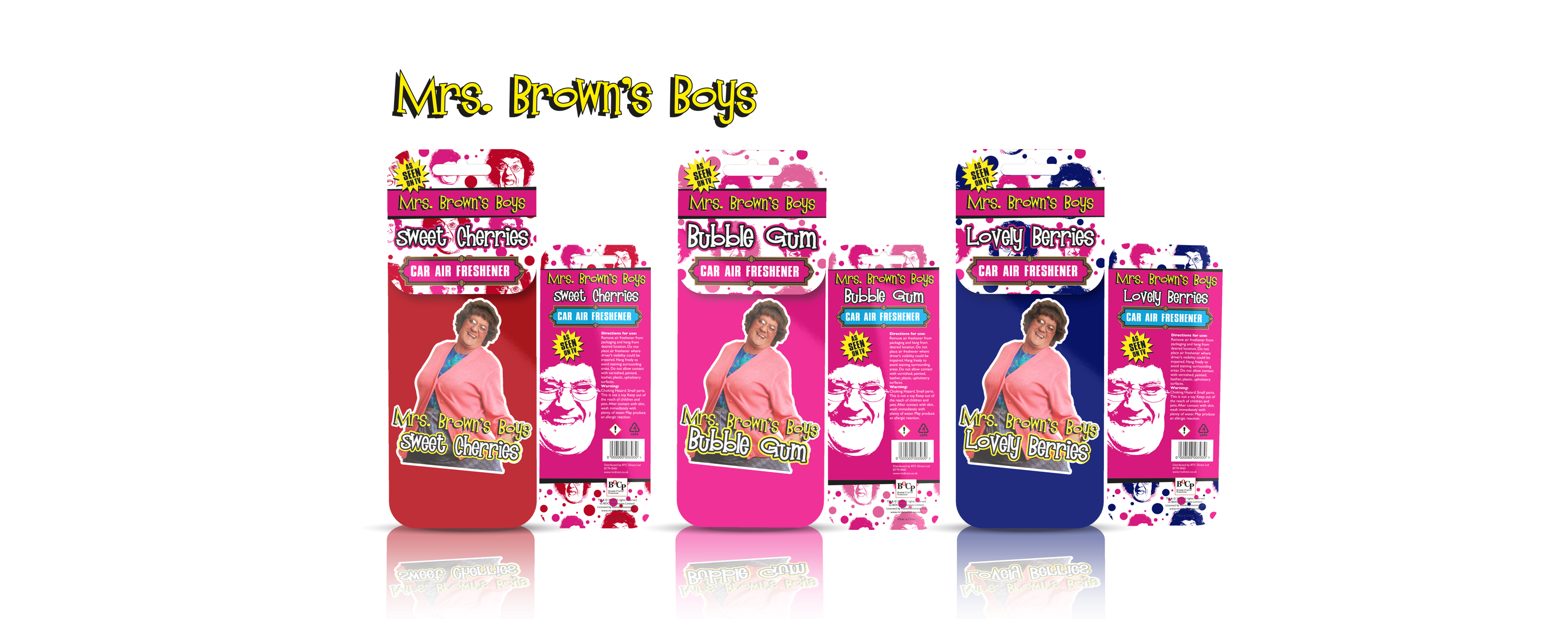 Mrs Browns Boys Air Freshener Design Visuals printed graphic