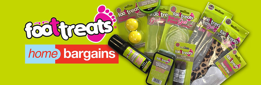 Foottreats foot & shoe care range for Home Bargains