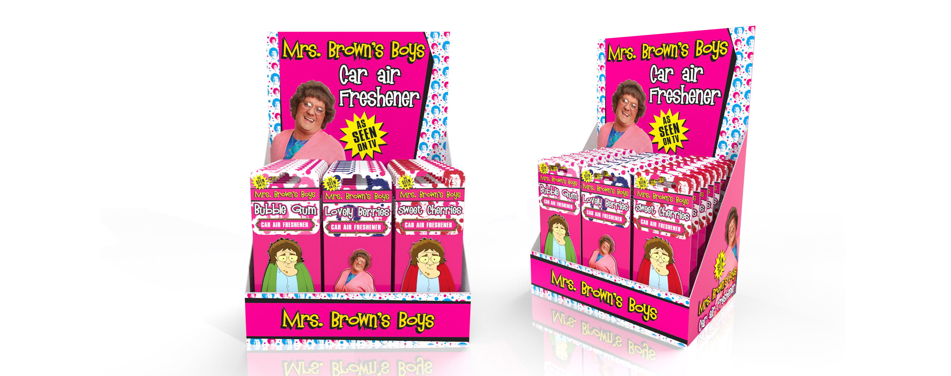 Mrs Browns Boys Air Freshener 3D CAD CDU Design Visuals print graphic designer