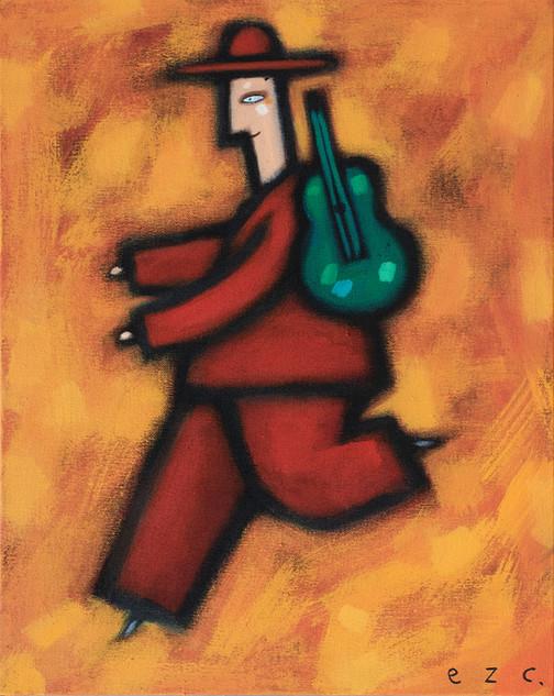 músico en movimiento