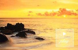 Golden sunrise ovr ocean. Song: Moving in the Unmoving
