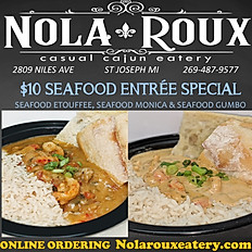 Tuesday- Seafood Entrees