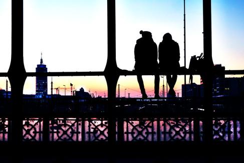 Sonnenuntergang auf Hackerbrücke