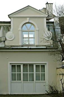 Hinterhofarchitektur im Westend, München
