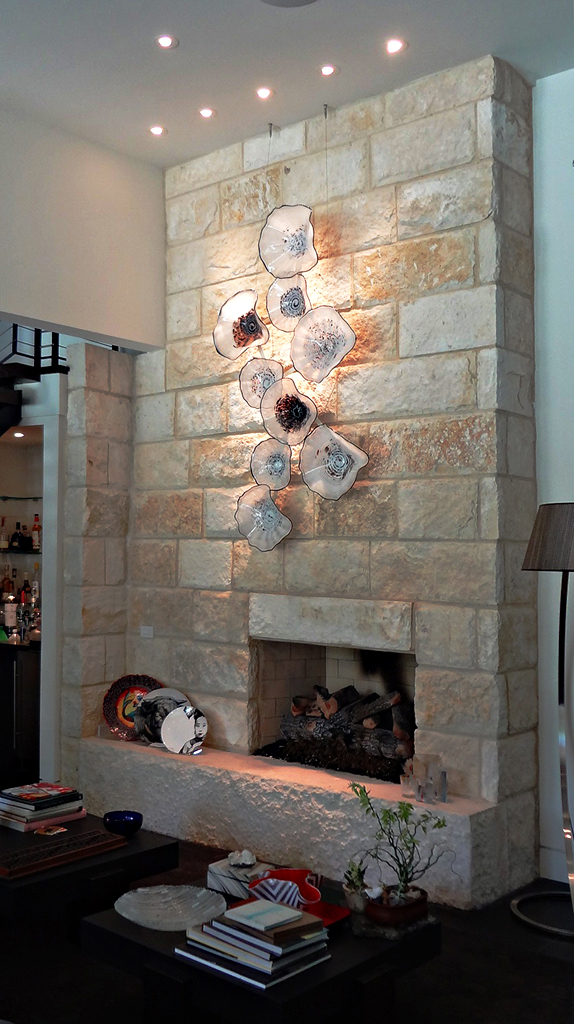 White Platter Fireplace Install