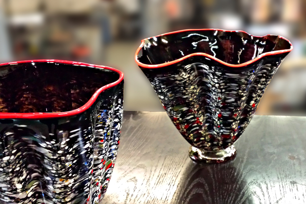 Speckled Vase Pair