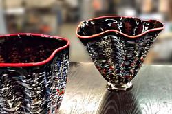 Speckled Vase Pair