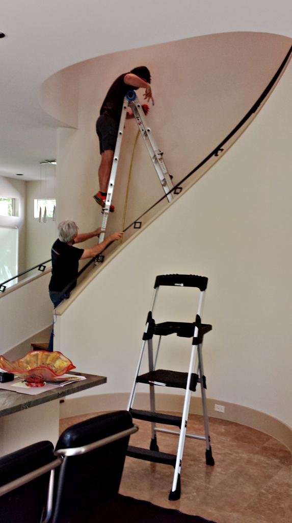 Beginning Stairway installation