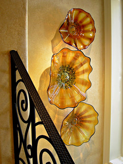 Golden-Firewheels Wall Installation