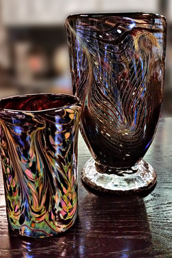 Tumbler with Complementary Vase