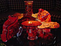 Vase and Platter Arrangement