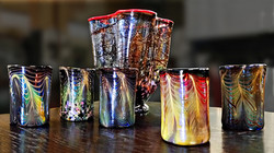 Tumblers with Vase