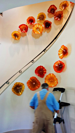 Stairway Bloom installation progress