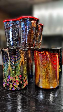 Dramatic Tumbler Set with Vase