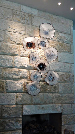 White Blooms Fireplace Installation