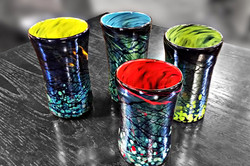 Silver Tumblers - w/Colored Insides