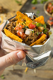 Homemade Beef Walking Taco in a Bag with