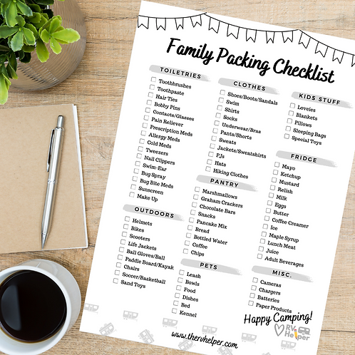 Family Packing Checklist