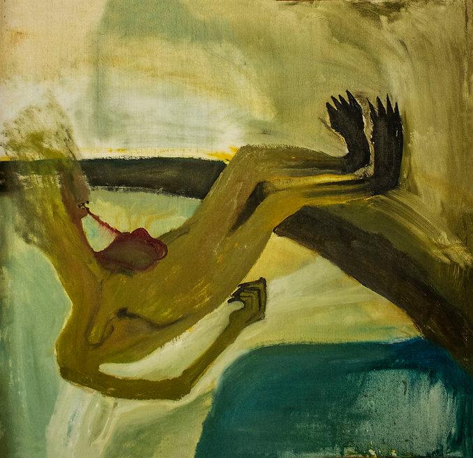 LA MAGIA NERA, olio su tela, cm 128 x 11