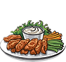 Chicken Wings Clipart - Transparent.png