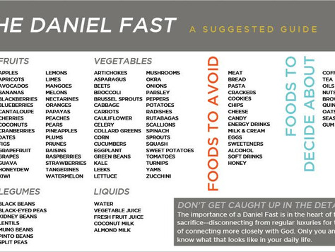 Ignite Fast Day 3: Normal/Daniel Fast