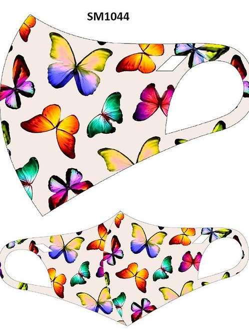 FASHION MASK  BUTTERFLY MULTI 10PCS