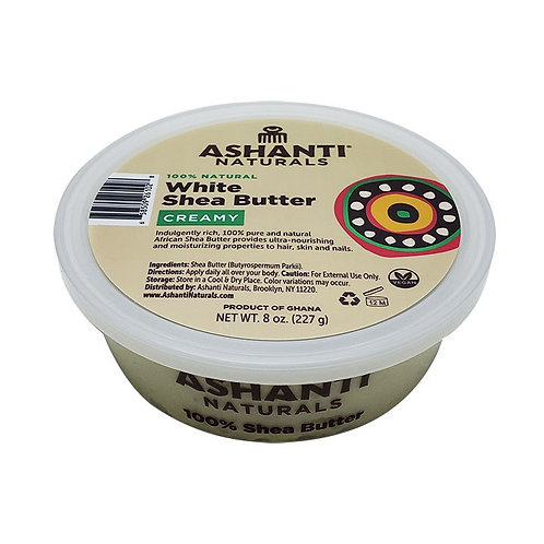 ASHANTI Creamy White Shea Butter 8oz