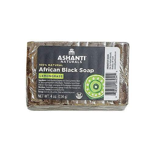ASHANTI Black Soap Bar - Lemon Grass 4oz