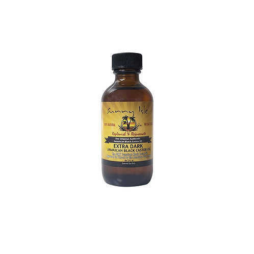 SUNNY ISLE Extra Dark Black Castor Oil 2oz