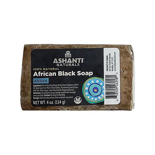 ASHANTI Black Soap Bar - Argan Oil 4oz