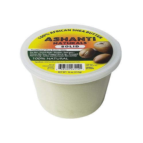 ASHANTI Solid White Shea Butter 16oz