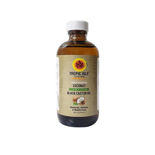 TROPIC ISLE Coconut Black Castor Oil 4oz