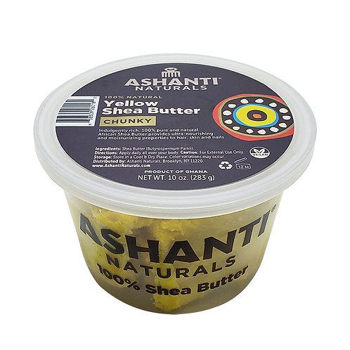 ASHANTI Chunky Yellow Shea Butter 10oz