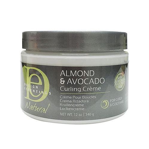 DESIGN Natural Almond Avocado Curling Crème 12oz