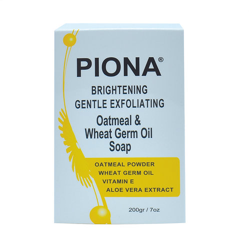 PIONA Exfoliating Oatmeal & Wheat Germ Oil Soap 7oz