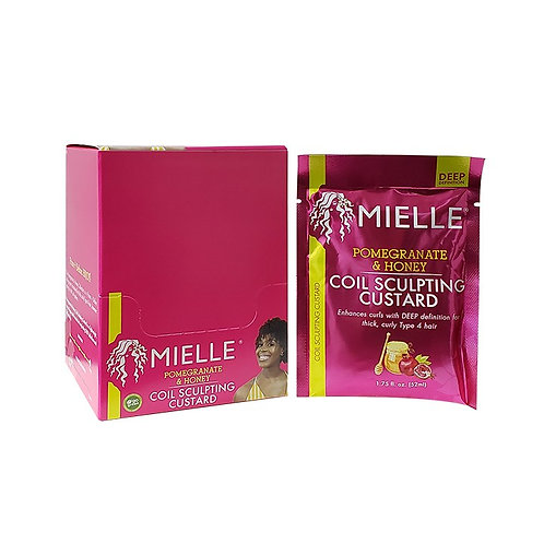 MIELLE DISPLAY PACK POM/HONEY CURL CUSTARD 1.75oz