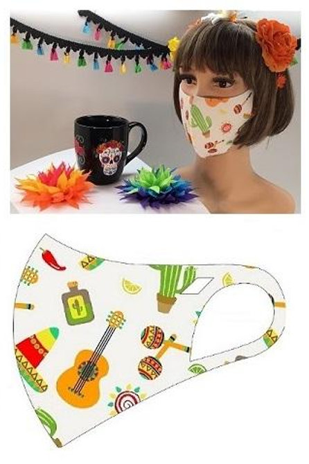 FASHION MASK FIESTAWHITE 10PCS